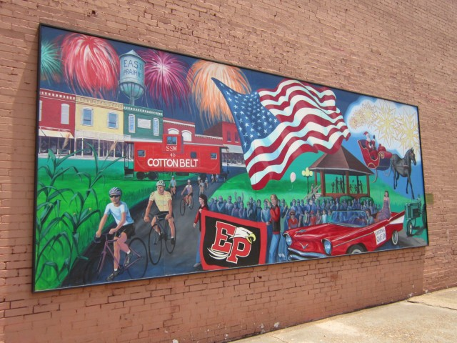 This mural shows just how important the Tour de Corn is to East Praire.
