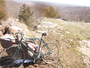 The Nashbar Touring bike at a nice overlook